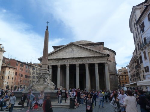 The Pantheon, is in the middle of Rotonda Square